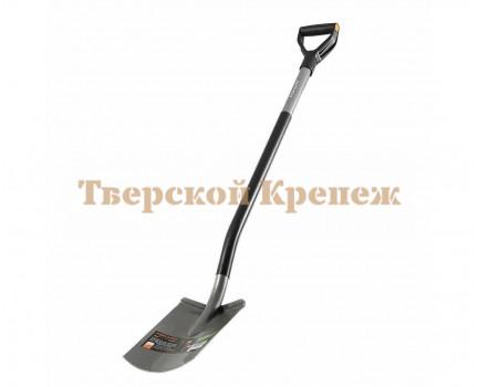 Лопата штыковая с закругленным лезвием FISKARS Ergonomic™