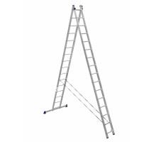 Лестница двухсекционная ALUMET 16 ступеней
