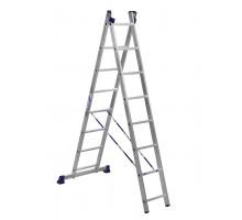 Лестница двухсекционная ALUMET 8 ступеней