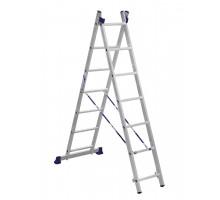 Лестница двухсекционная ALUMET 7 ступеней