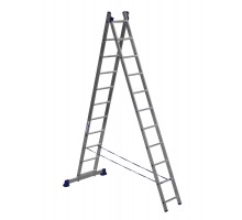 Лестница двухсекционная ALUMET 11 ступеней