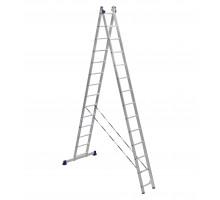 Лестница двухсекционная ALUMET 14 ступеней