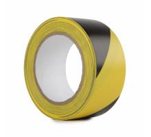 Лента сигнальная желто-черная 50х150х50