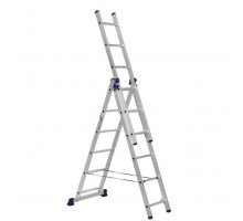 Лестница трехсекционная ALUMET 6 ступеней