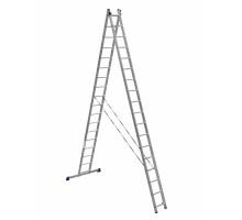 Лестница двухсекционная ALUMET 18 ступеней