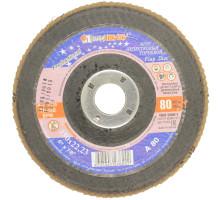 Круг лепестковый торцевой ЛУГА 150х22 P80