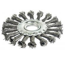 Щетка для ушм радиальная витая ПРАКТИКА 115 мм