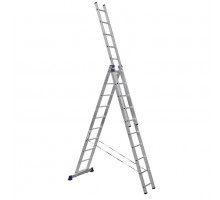 Лестница трехсекционная ALUMET 10 ступеней