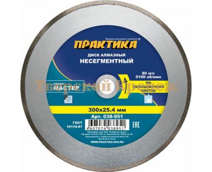 Диск алмазный ПРАКТИКА МАСТЕР 300х25,4/22 Н