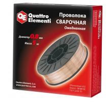 Проволока сварочная QUATTRO ELEMENTI 0.8 мм 5 кг