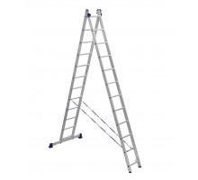 Лестница двухсекционная ALUMET 12 ступеней