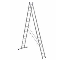 Лестница двухсекционная ALUMET 17 ступеней