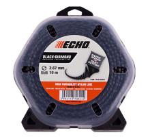 Леска триммерная ECHO Black Diamond Line 2.7 10 м