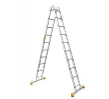 Лестница стремянка шарнирная ALUMET 2-10