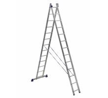 Лестница двухсекционная ALUMET 13 ступеней