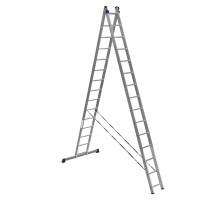 Лестница двухсекционная ALUMET 15 ступеней