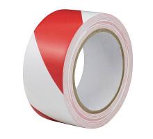 Лента сигнальная красно-белая 50х150х50