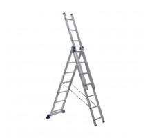 Лестница трехсекционная ALUMET 7 ступеней