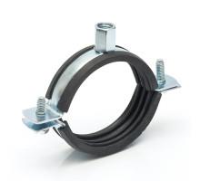 Хомут для крепления труб с резиновой прокладкой 15-19 мм