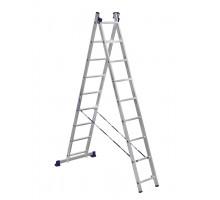 Лестница двухсекционная ALUMET 9 ступеней