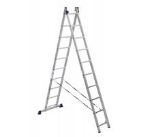 Лестница двухсекционная ALUMET 10 ступеней