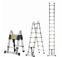 Двухсторонняя телескопическая лестница с шарниром 2.2 м