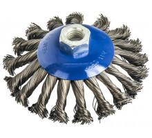 Щетка для ушм радиальная витая с наклоном ПРАКТИКА 125 мм