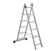 Лестница двухсекционная ALUMET 6 ступеней